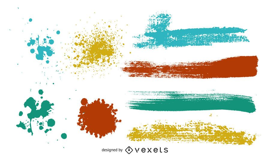 Colorful Black Mark On The Ink Vector