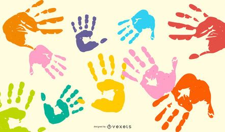Lip Handprint Footprint Vector