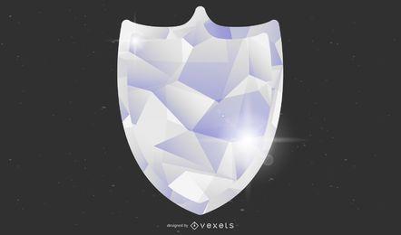 Textura de cristal de escudo de vetor de sarja