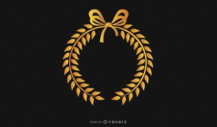 Gold Crown Ribbon Bow Vector