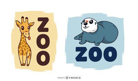 Vector lindo del zoológico