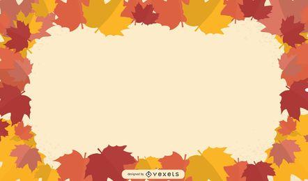 autumn leaves frame illustration