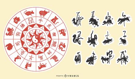 Tierkreis von Papercut-Vektor C