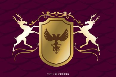 Vector de elementos decorativos magníficos europeos