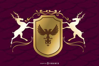 Vector de elementos decorativos preciosos europeos