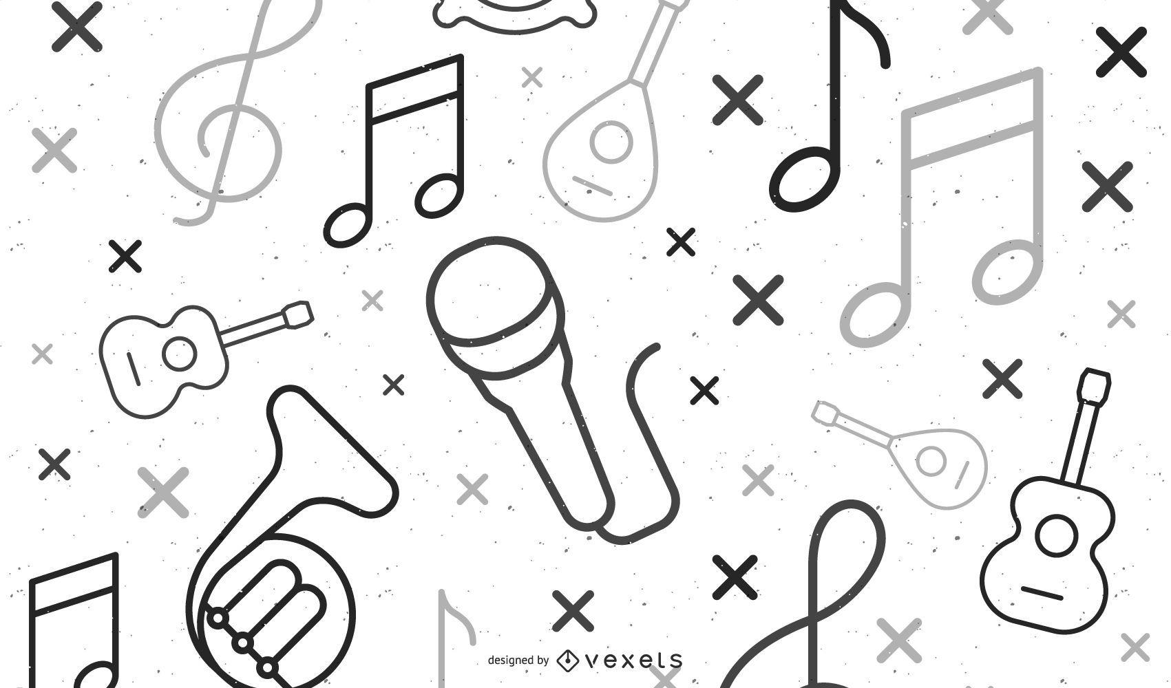 music elements illustration design