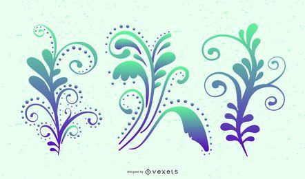 Coloridos remolinos de gráficos vectoriales