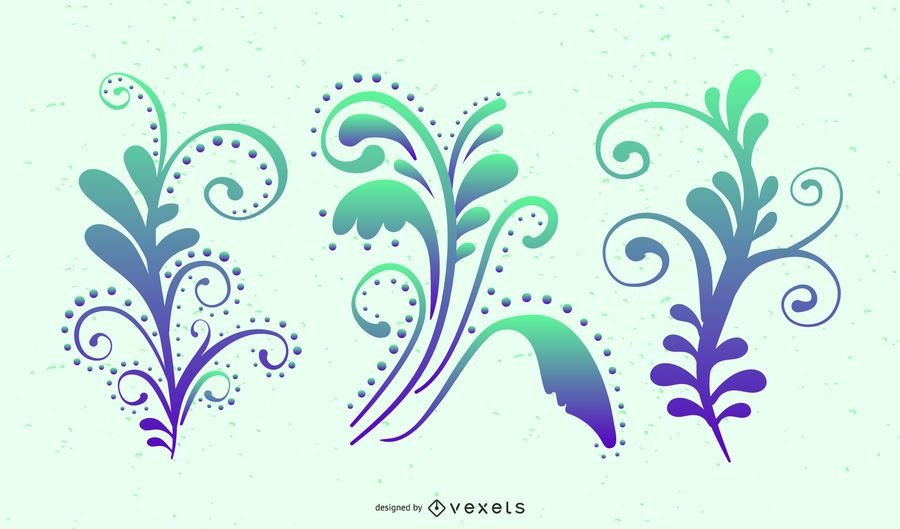 Colorful Swirls Vector Graphics