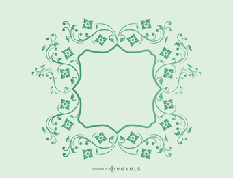 Vines Frame Vector