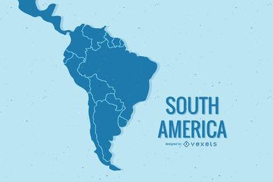 South America Map Vector