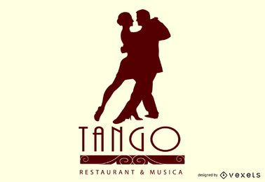 diseño de ilustración de restaurante de tango