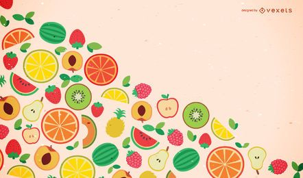 Fondo de fruta de diseño plano