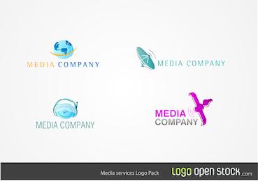 Paquete de logotipos de servicios multimedia