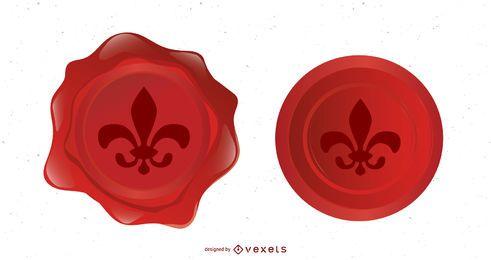 Fleur De Lys Vector Seals