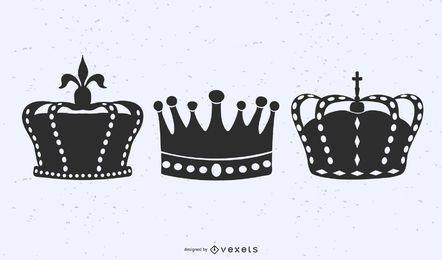 Illustrierte Krone eingestellt