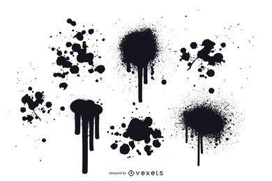 Grunge pintura Splatter vetores grátis