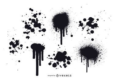 Vectores de salpicaduras de pintura de grunge gratis