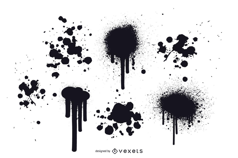 Grunge Paint Splatter Vectors Free