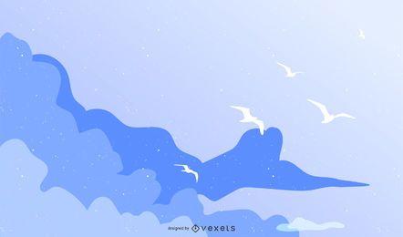 Blue Sky Vector 2