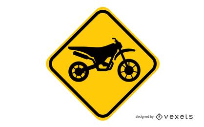 Letrero de Motocross
