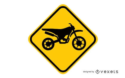 Motocross-Schild