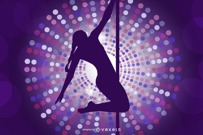 Pole dancing illustration