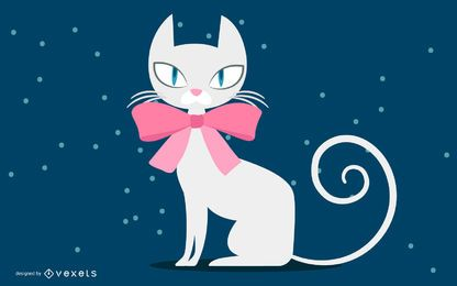Gato branco de natal
