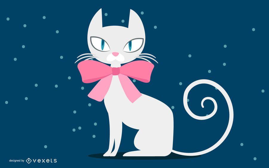 Christmas White Cat