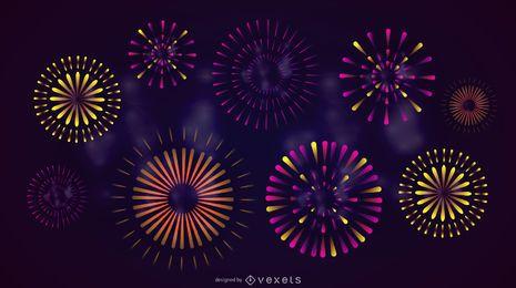 Fuegos artificiales de celebración