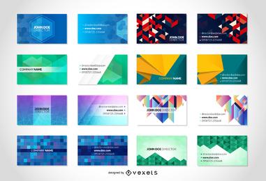 Paquete de tarjetas de visita de vectores