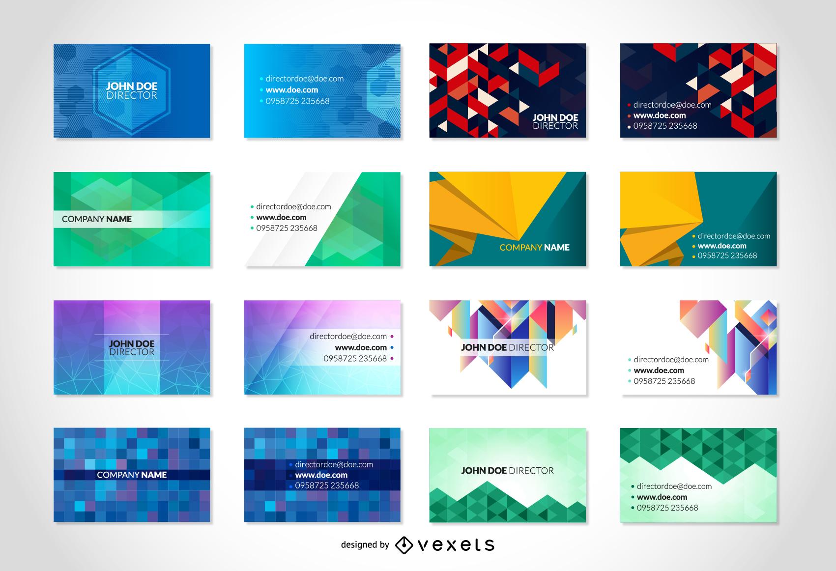 Paquete de tarjetas de visita de vector