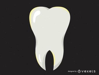 Ilustración de diente