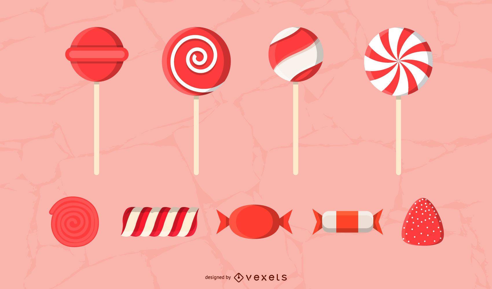 Paquete de dulces rojos