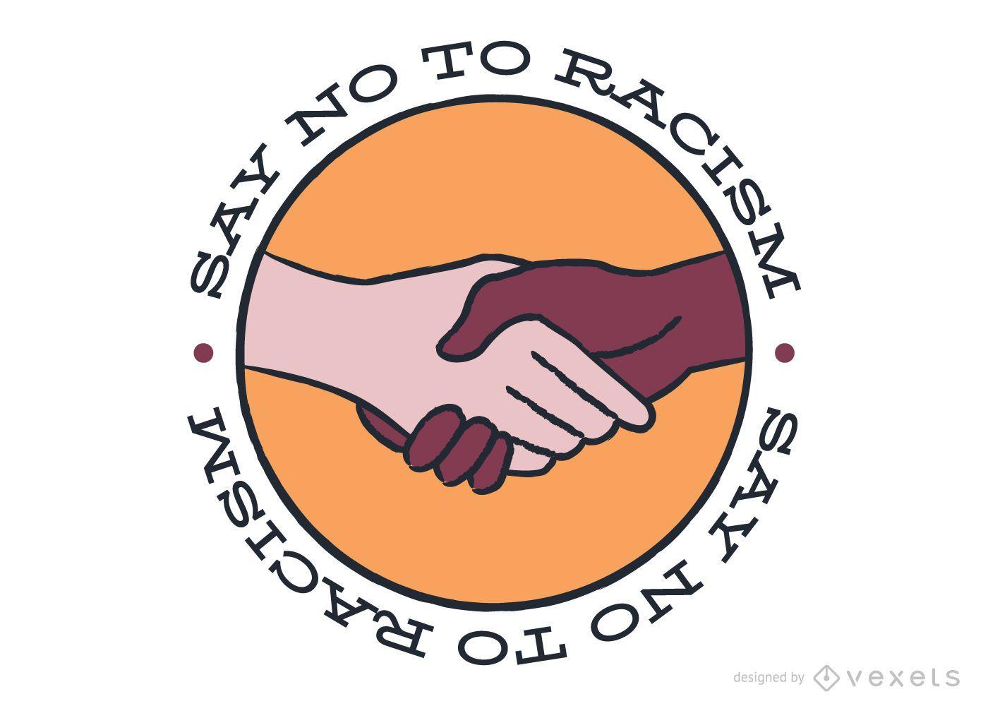 Design de adesivos Diga não ao racismo