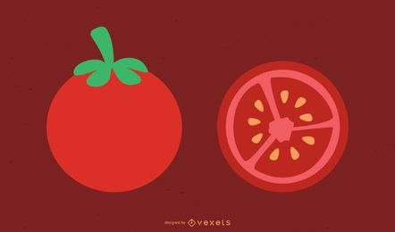Tomaten-Vektor
