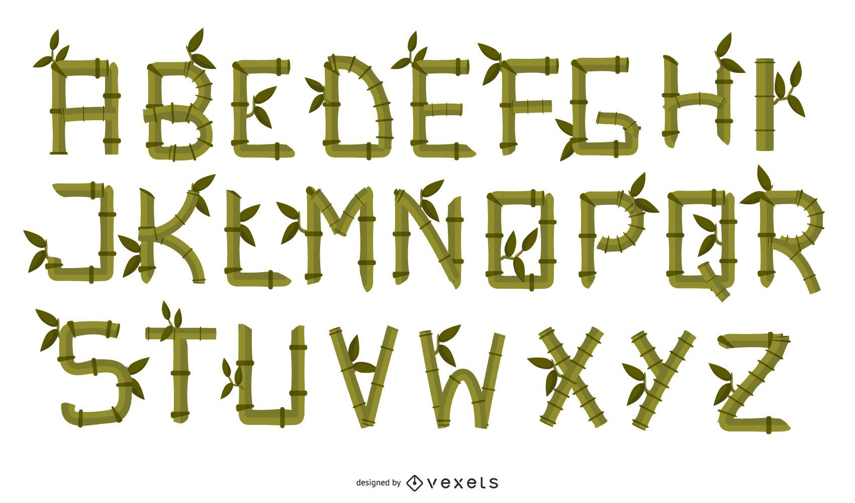 Bamboo Creative Letters 02 Vector