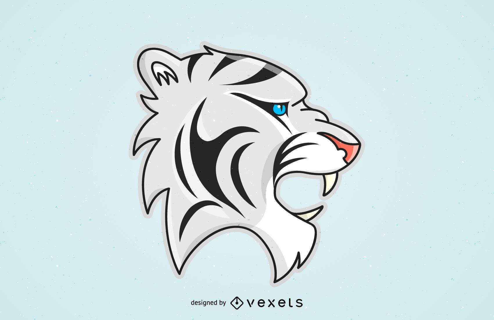 Vector de imagen de tigre 24
