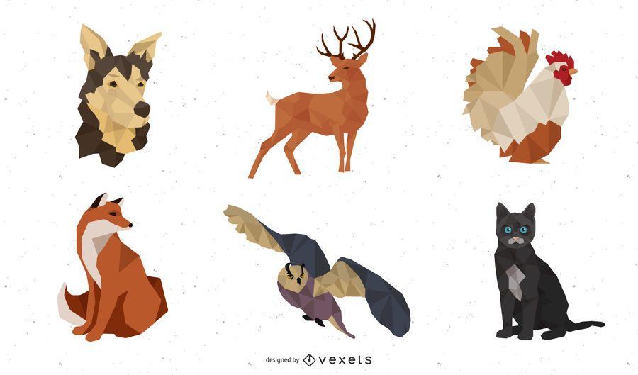Facades Body Animal Models 04 Vector