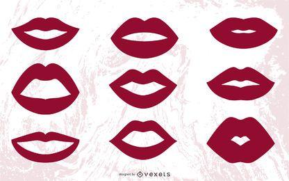Vektor Lippen Kuss