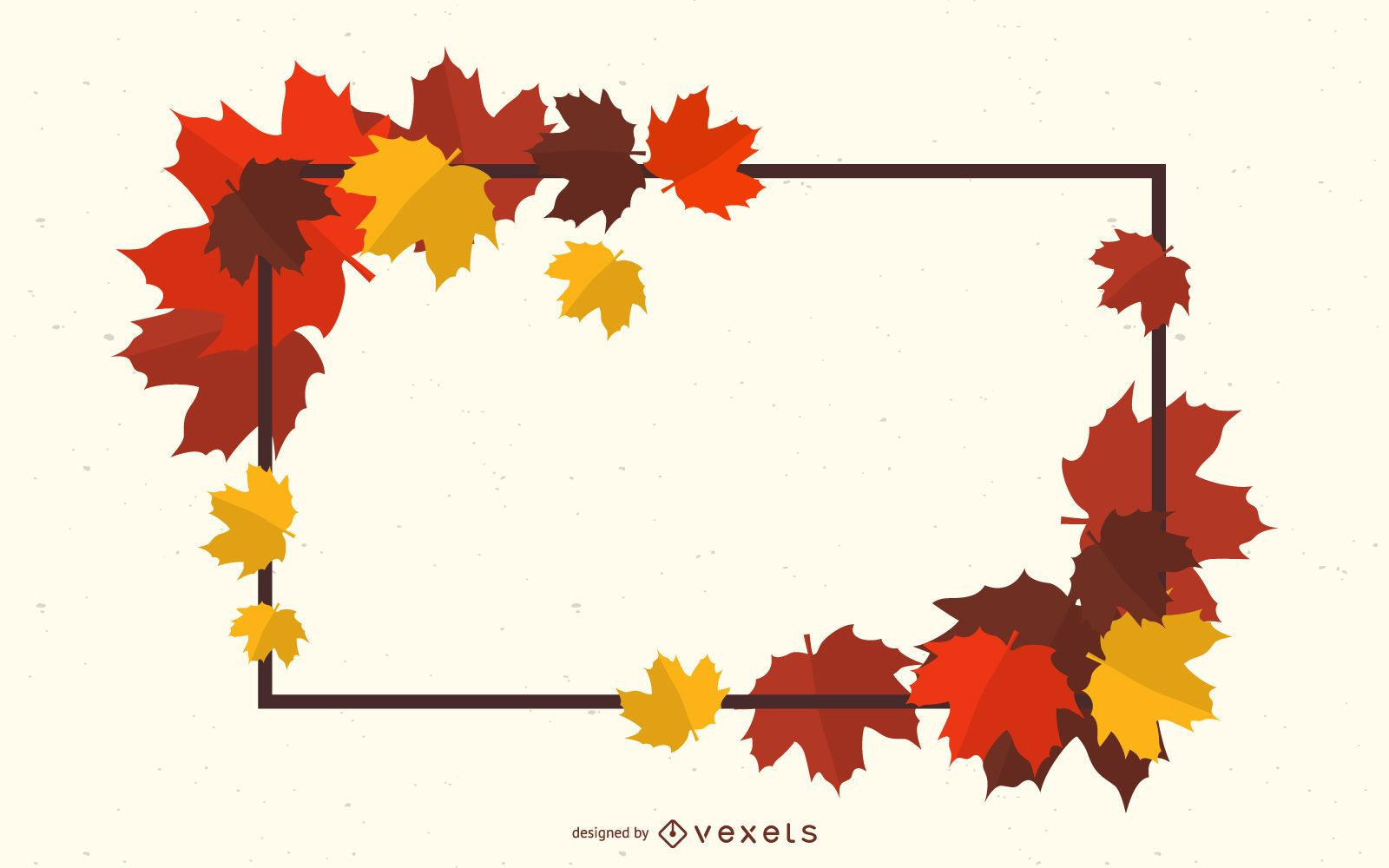 Beautiful Leaves Decorated Frame