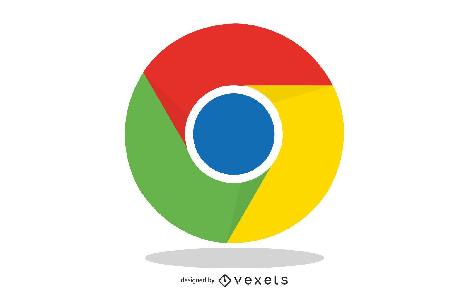 Vector libre lindo icono de Google Chrome
