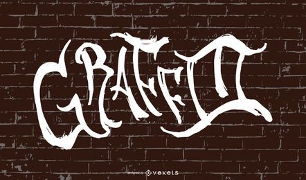 Beautiful Graffiti Font Design On Wall