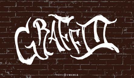 Hermoso diseño de fuente de graffiti en la pared