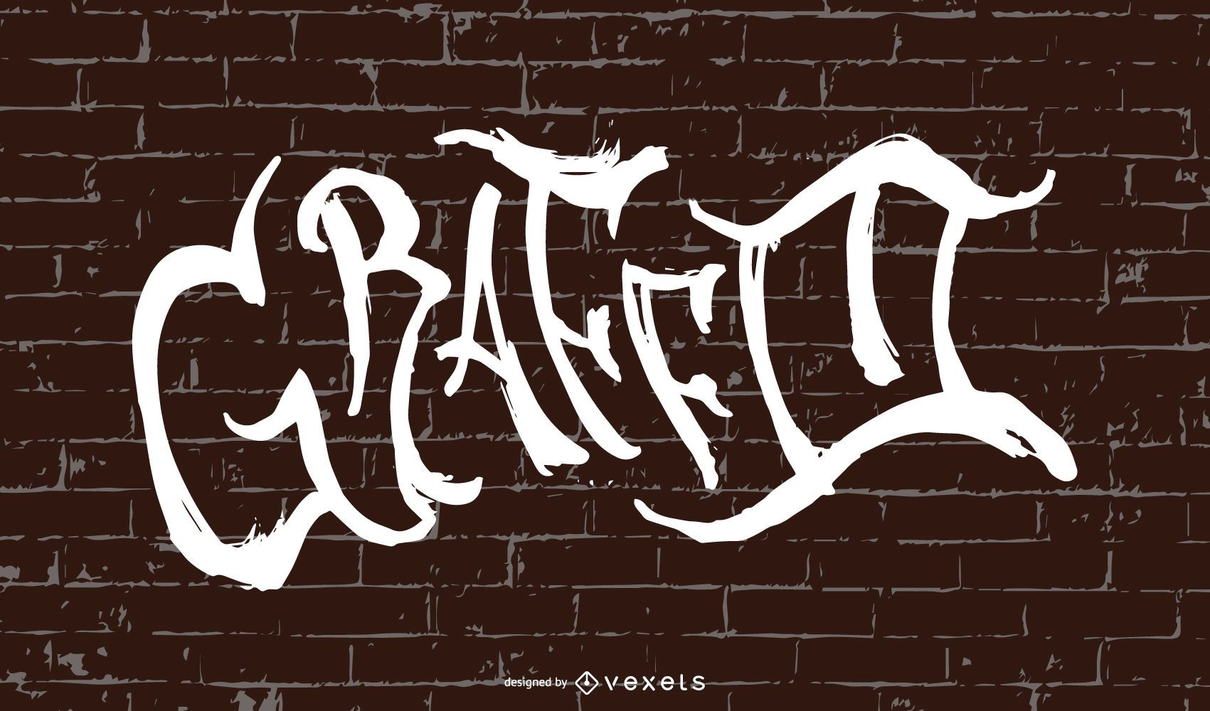 Hermoso dise?o de fuente de graffiti en la pared