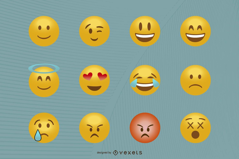 Classic emoticon set