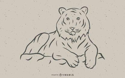 Tiger Bild 10 Vektor