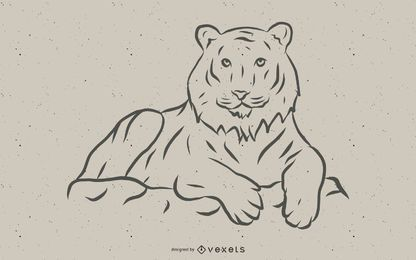 Vector de imagen de tigre 10