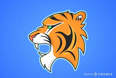 Vector de imagen de tigre 25
