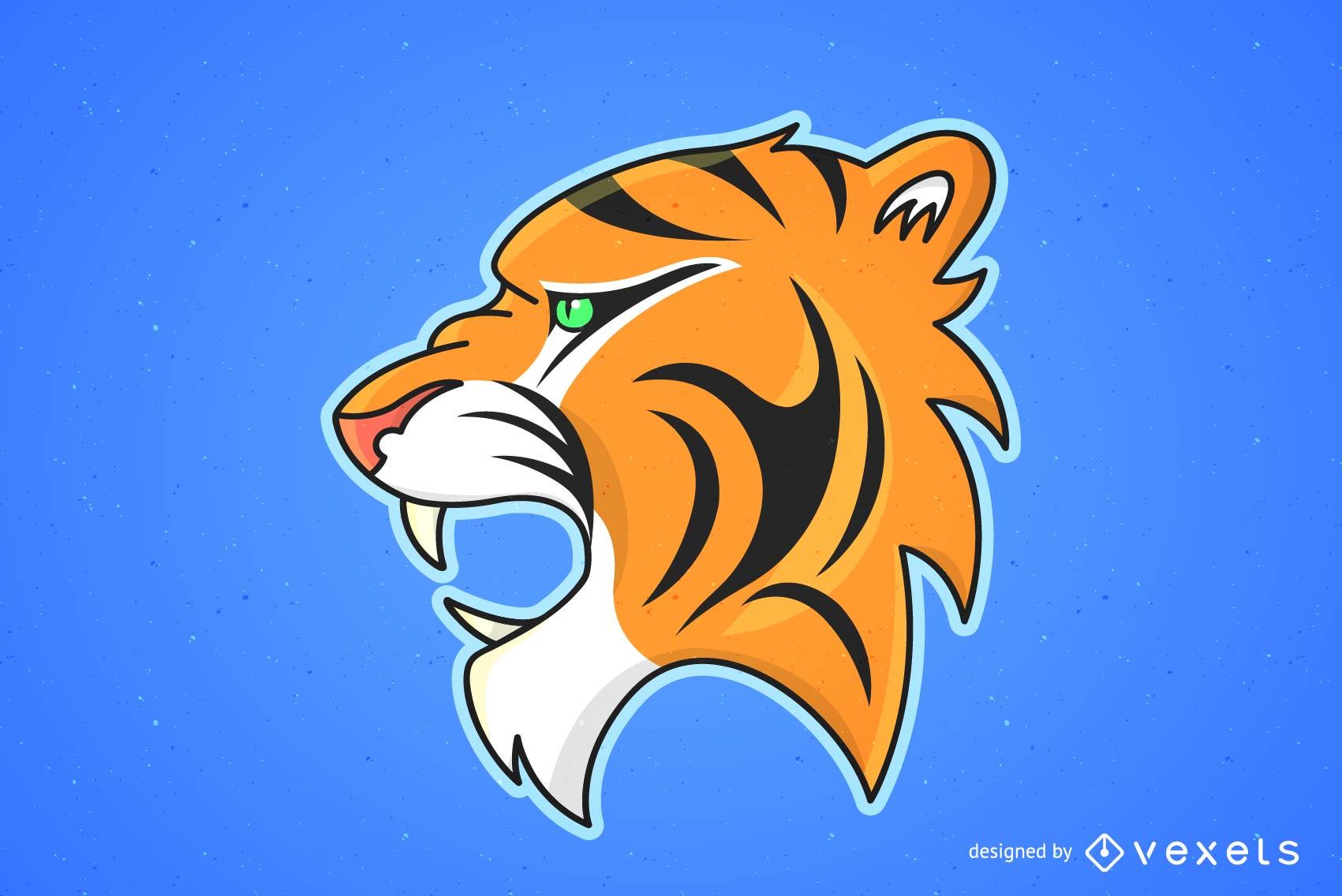 Tiger Image 25 Vector