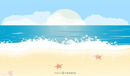 Vector de vacaciones de playa de verano